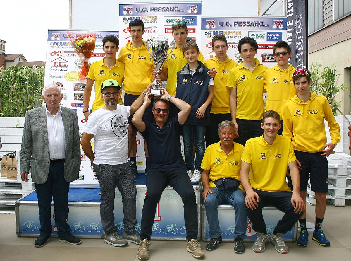 Velo Club Sovico premiata come miglior società tra gli Allievi (foto Berry)