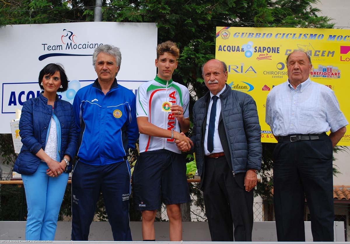 Alessio Pantalla dell'Unione Ciclistica Foligno campione umbro degli Allievi