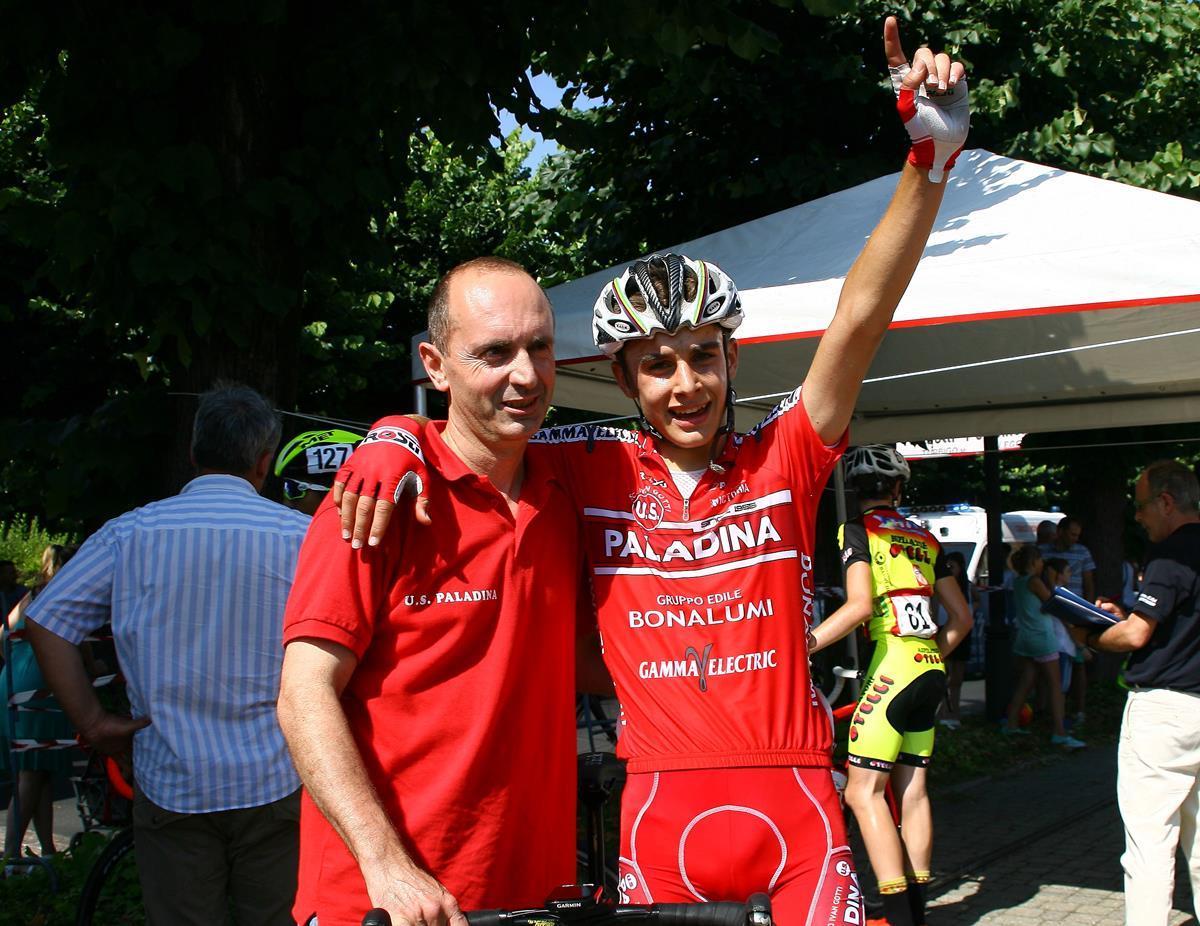 Marcello Mazzoleni con il suo tecnico Alessandro Gelmini (foto Berry)