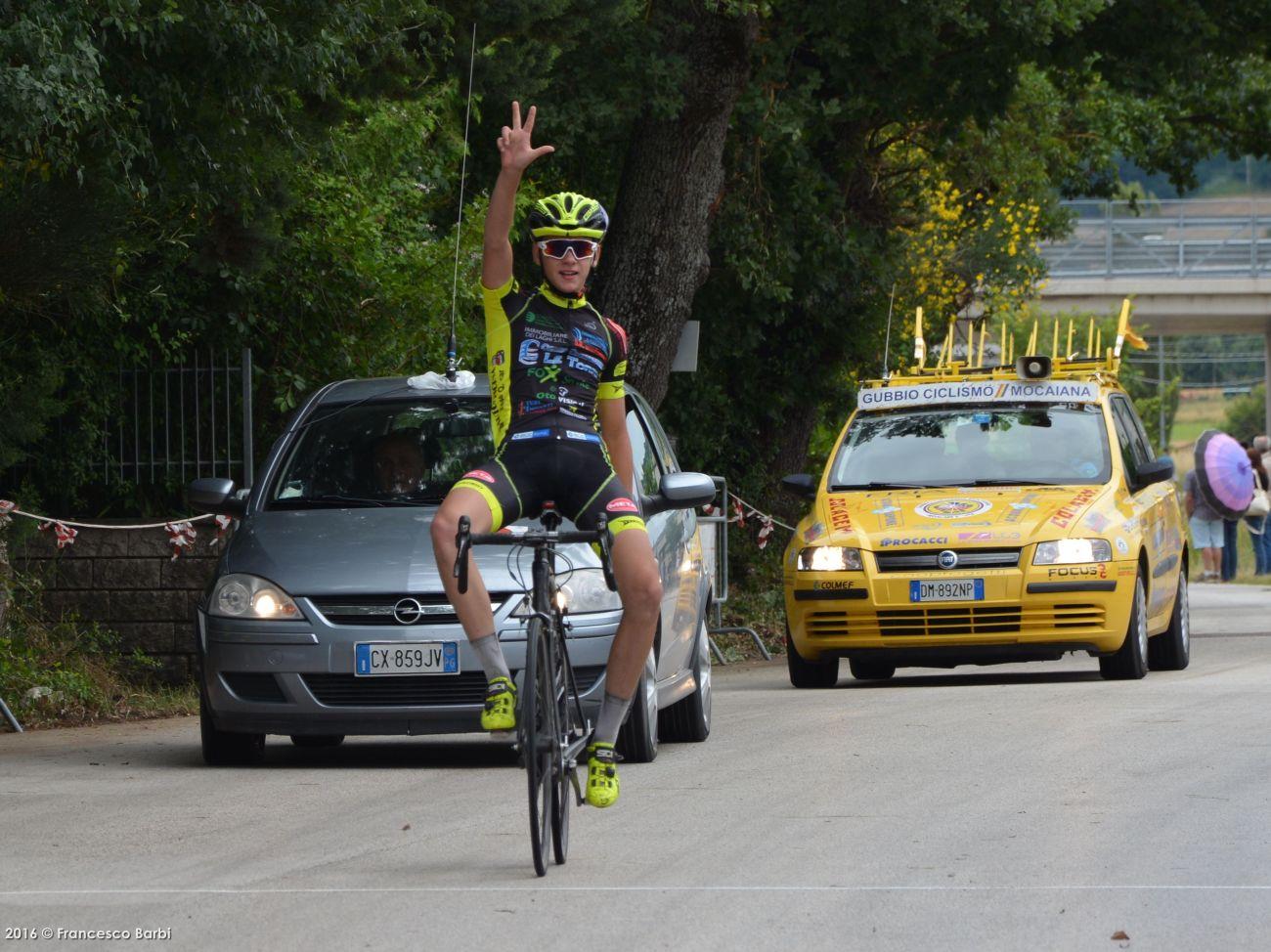 La vittoria di Luca Roberti a Mocaiana di Gubbio