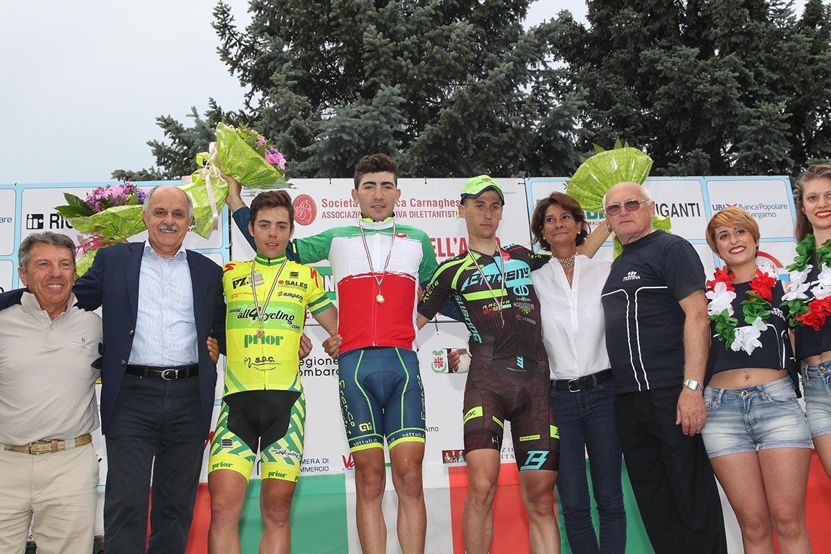 Il podio del Campionato Italiano Juniores 2016