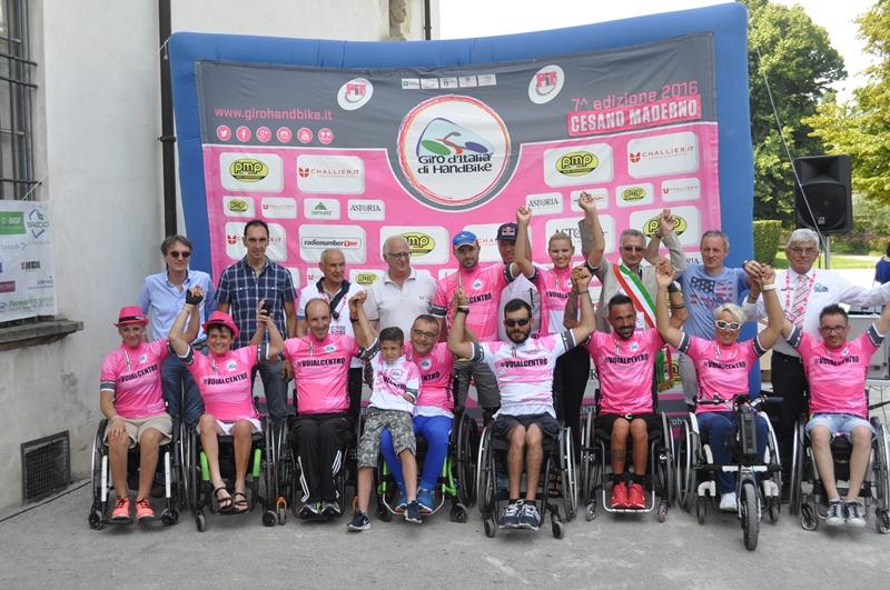 Tutte le maglie della tappa di Cesano Maderno del Giro d'Italia Handbike