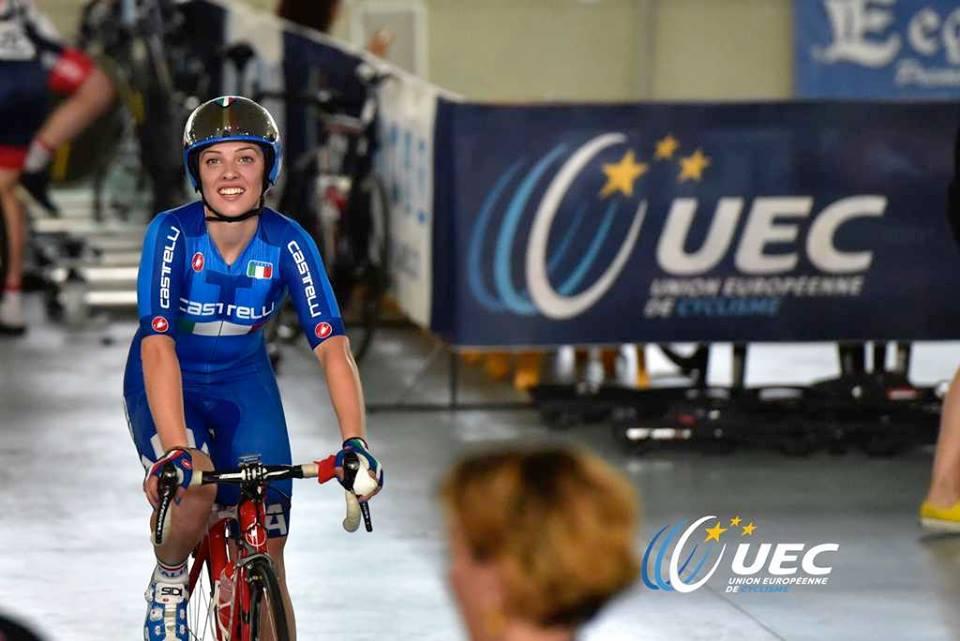 Letizia Paternoster campionessa europea dello Scratch Donne Junior (foto Dario Belingheri/UEC)