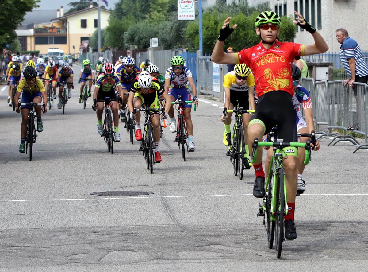 La vittoria del campione veneto Esordienti 1° anno Matteo Consolini