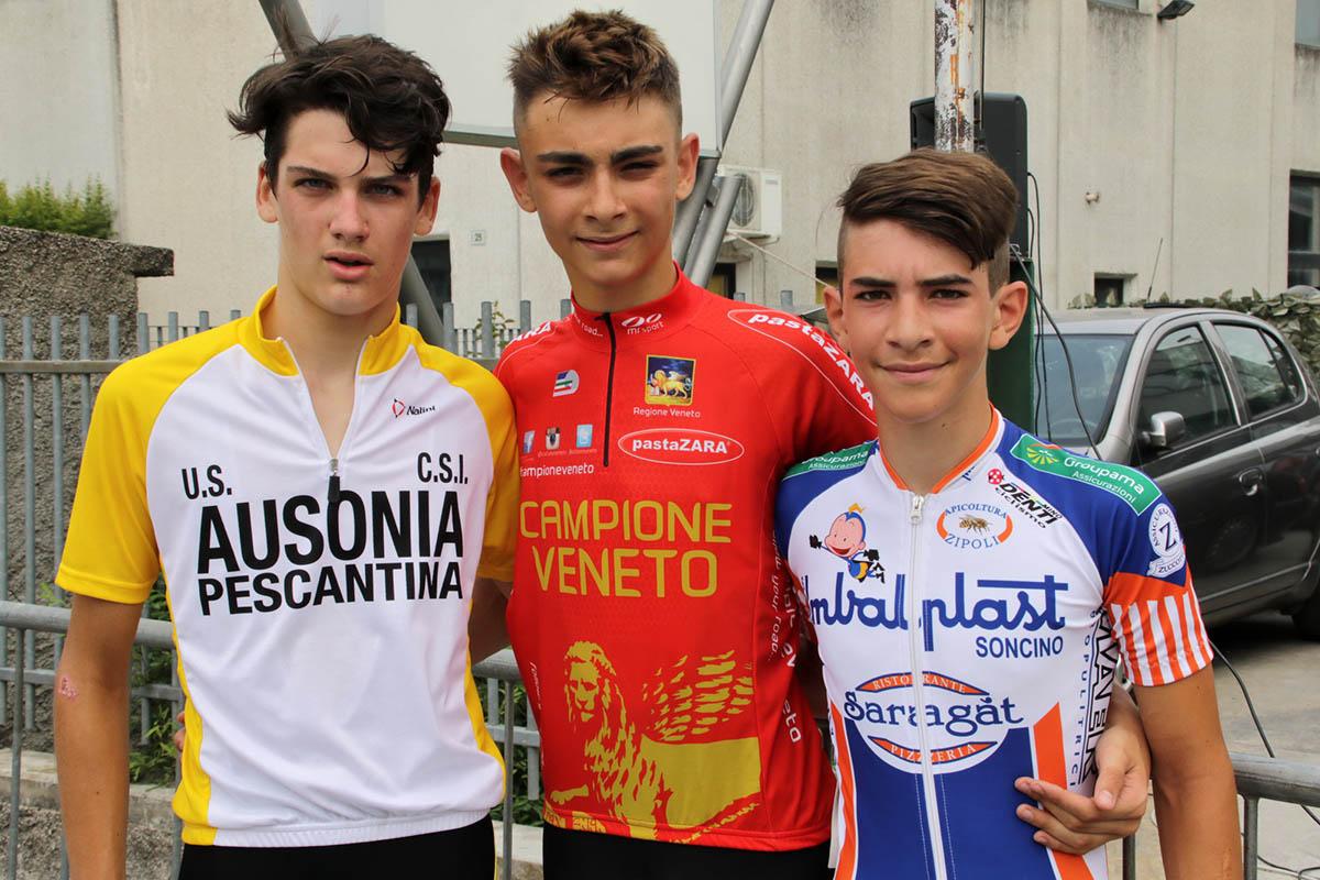 Il podio della gara Esordienti 1° anno con il successo di Consolini