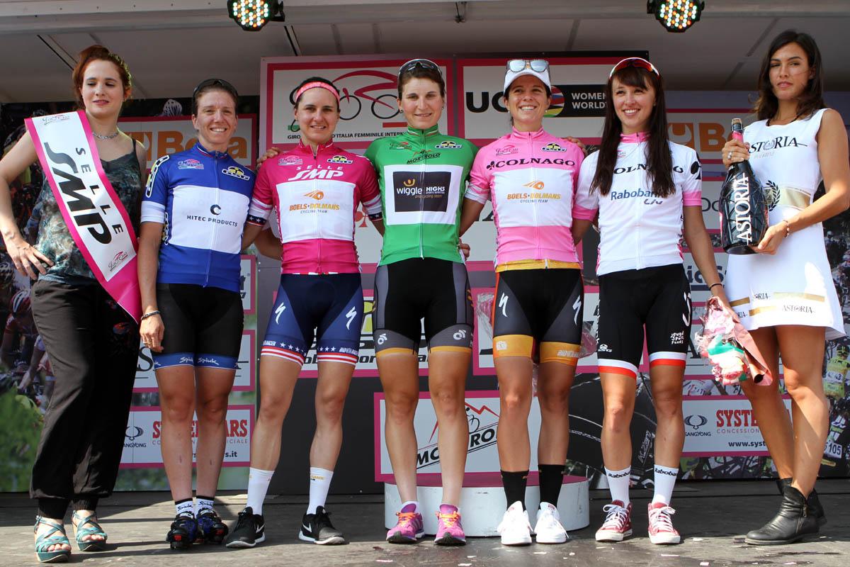 Le maglie dopo la terza tappa del Giro Rosa 2016