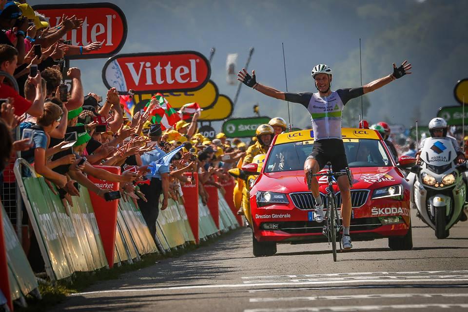 Vittoria solitaria di Steve Cummings nella settima tappa del Tour de France