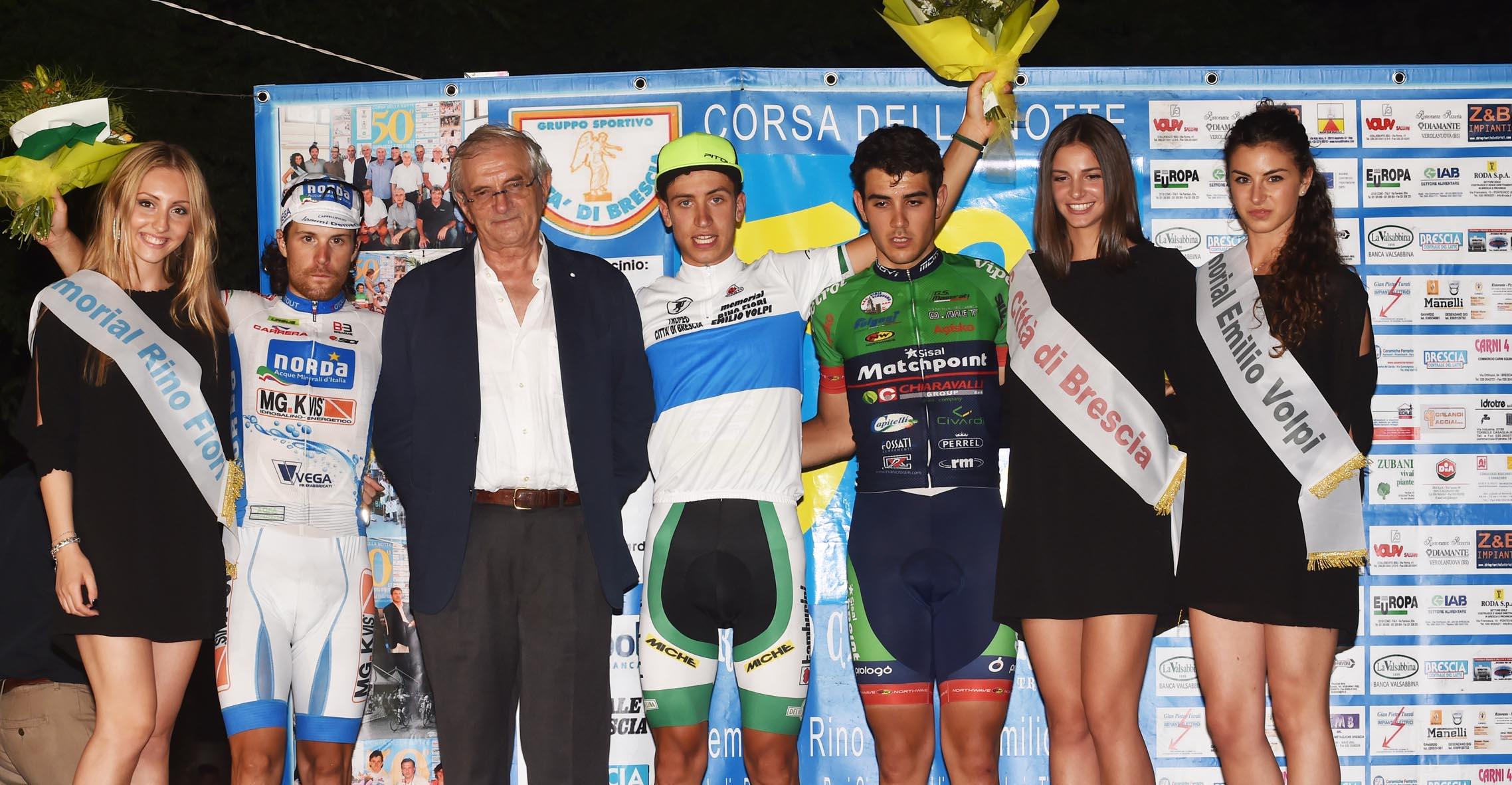 Il podio del Trofeo Città di Brescia 2016