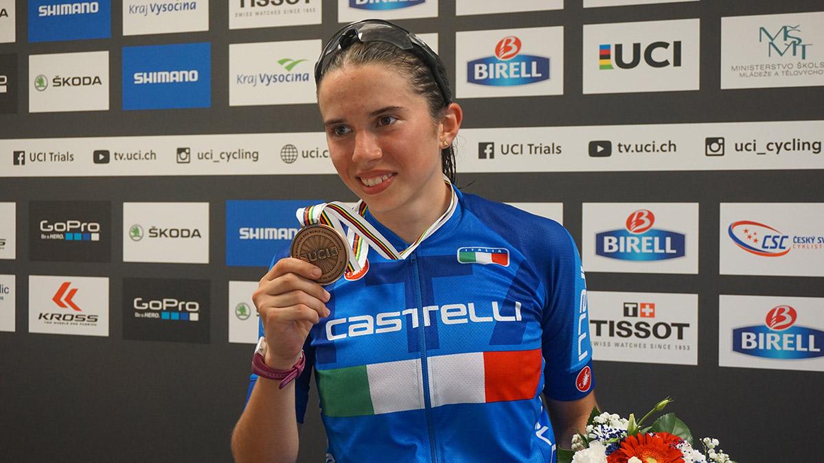 L'italiana Martina Berta medaglia di bronzo al Mondiale XCO Donne Junior
