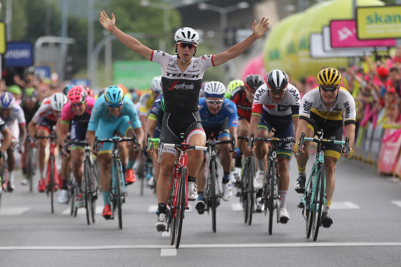 La vittoria di Niccolò Bonifazione nella terza tappa del Tour de Pologne 2016