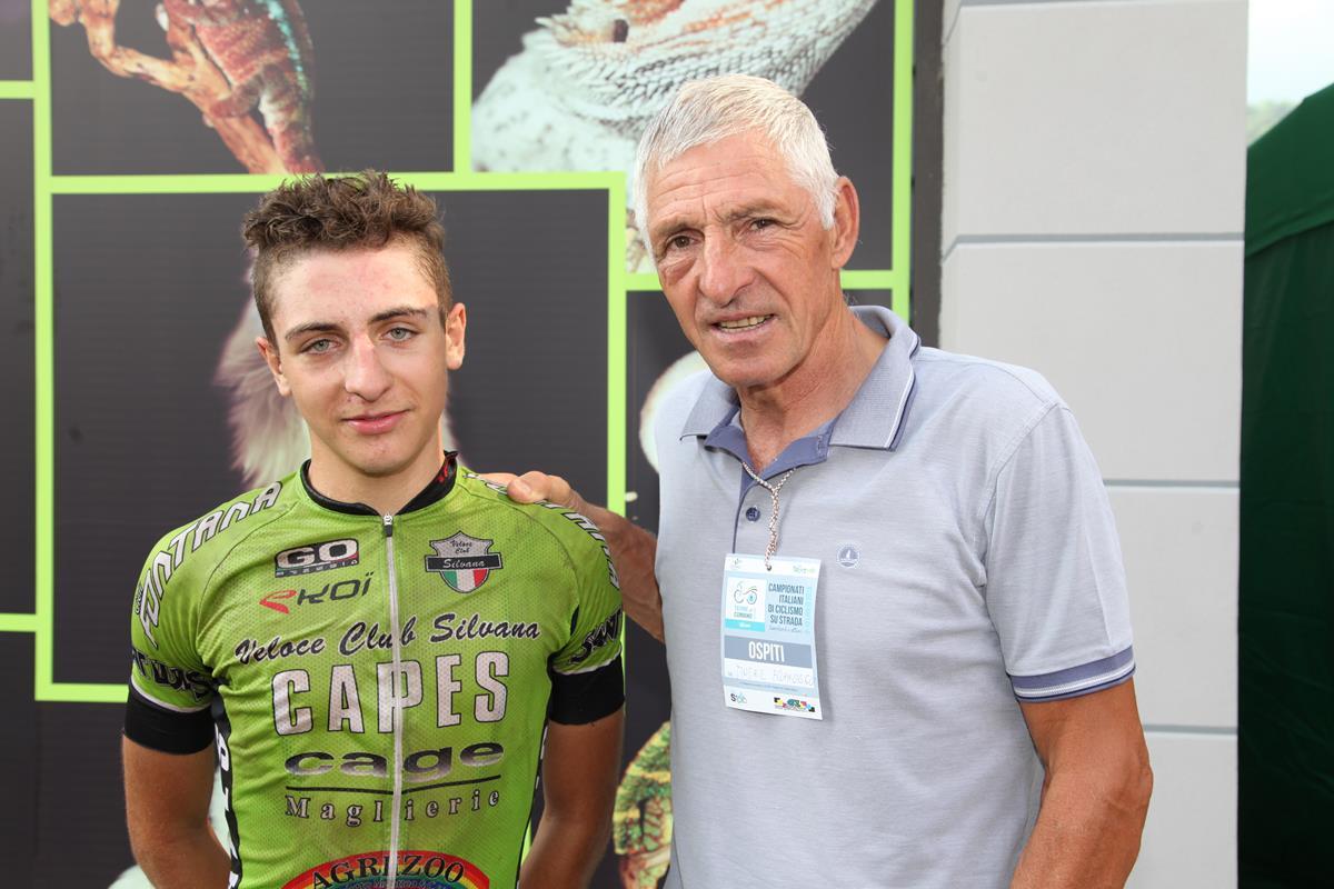 Il vincitore con Francesco Moser