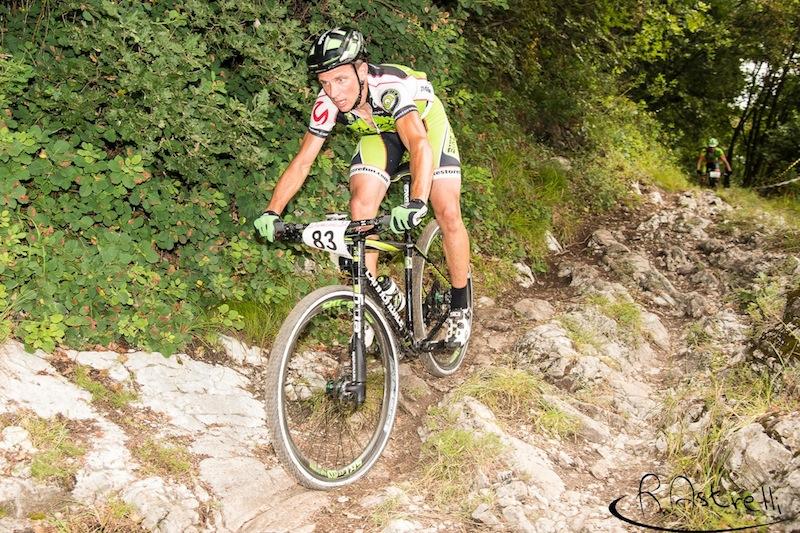 Michele Righetti in azione