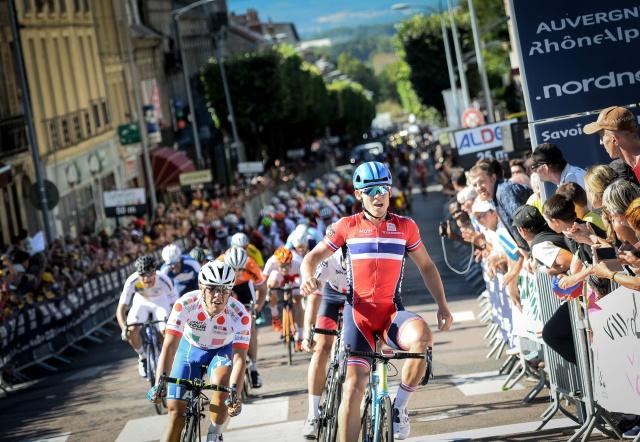 L'arrivo della terza tappa del Tour de l'Avenir