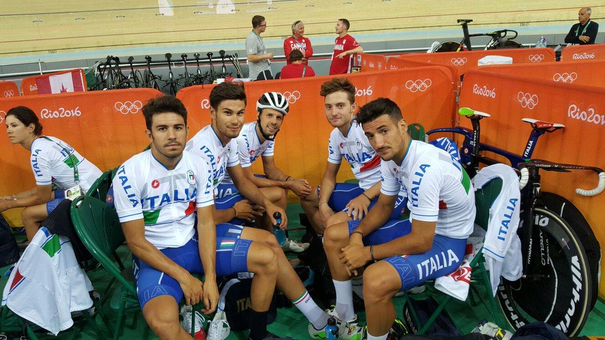 Gli azzurri del quartetto maschile