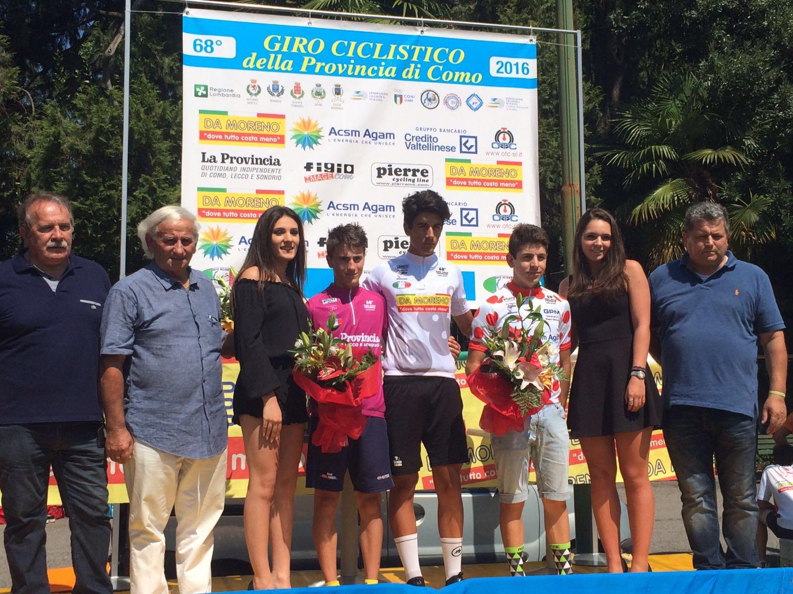 Le maglie del Giro della provincia di Como dopo la terza prova