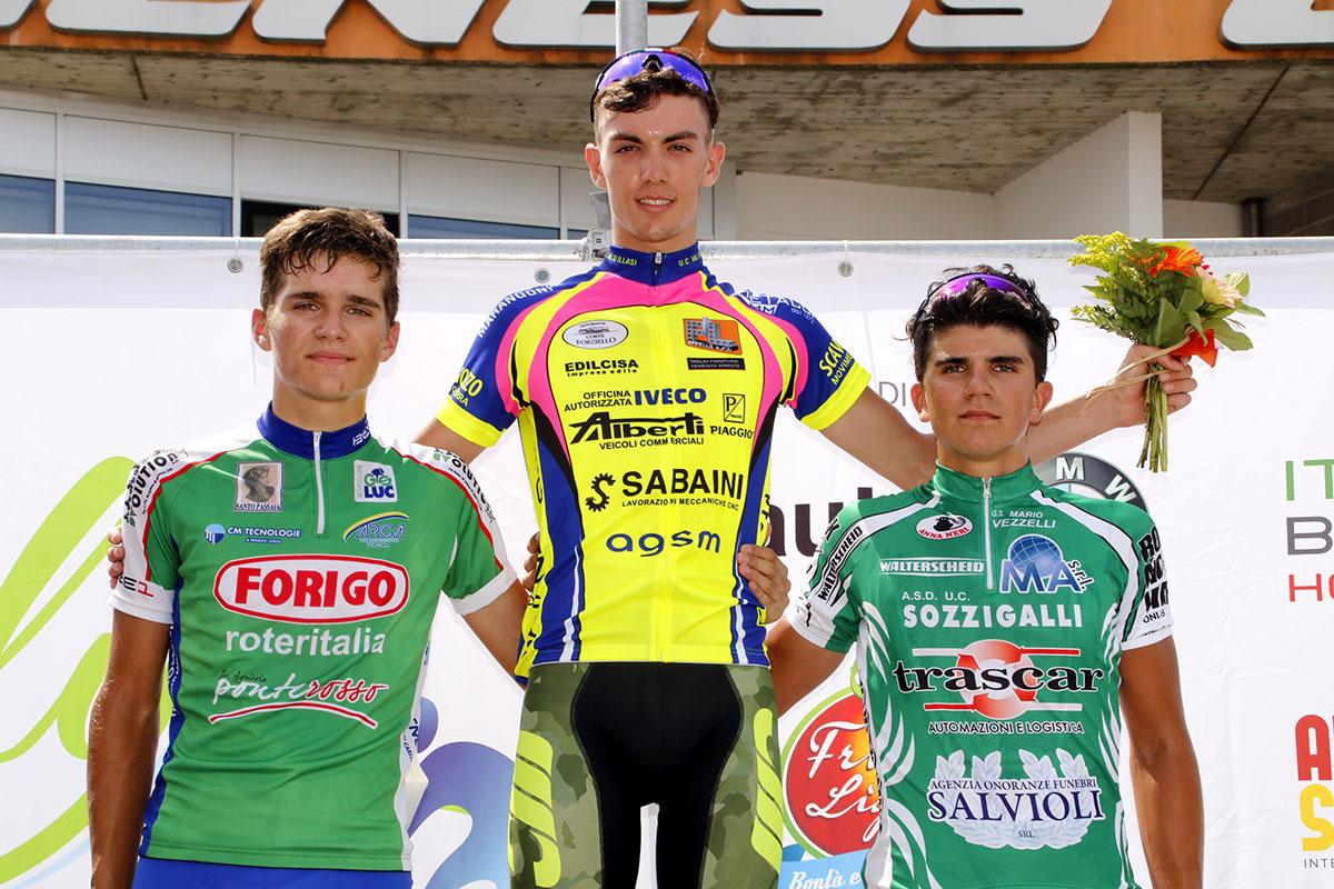 Il podio del Trofeo Le Sdinse di Villafrana