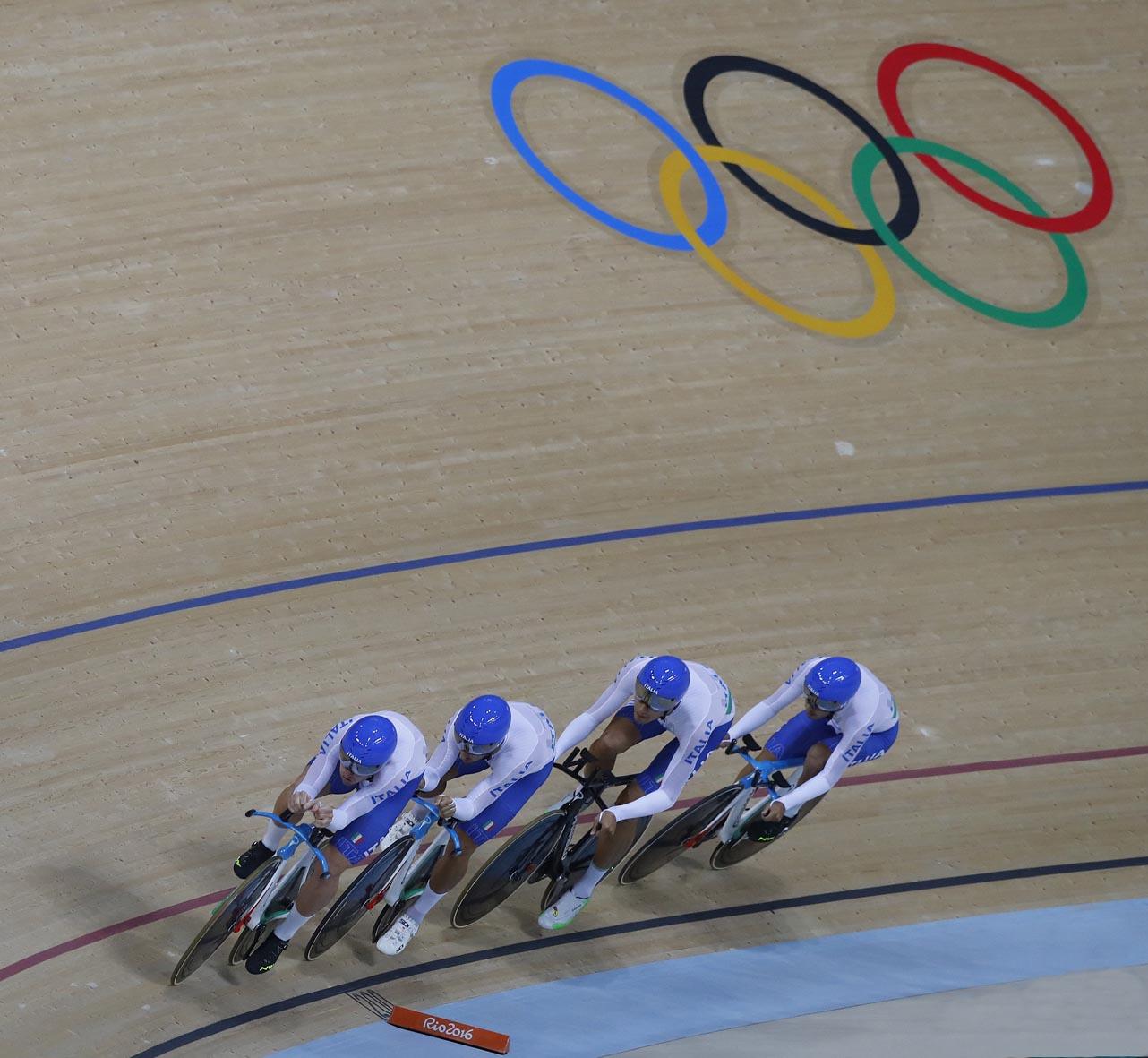 Il quartetto azzurro in azione