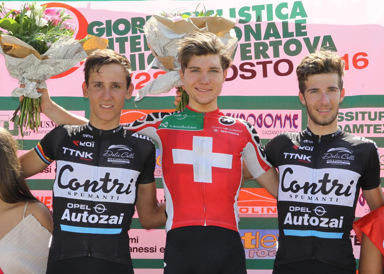 Il podio del Trofeo Emilio Paganessi 2016