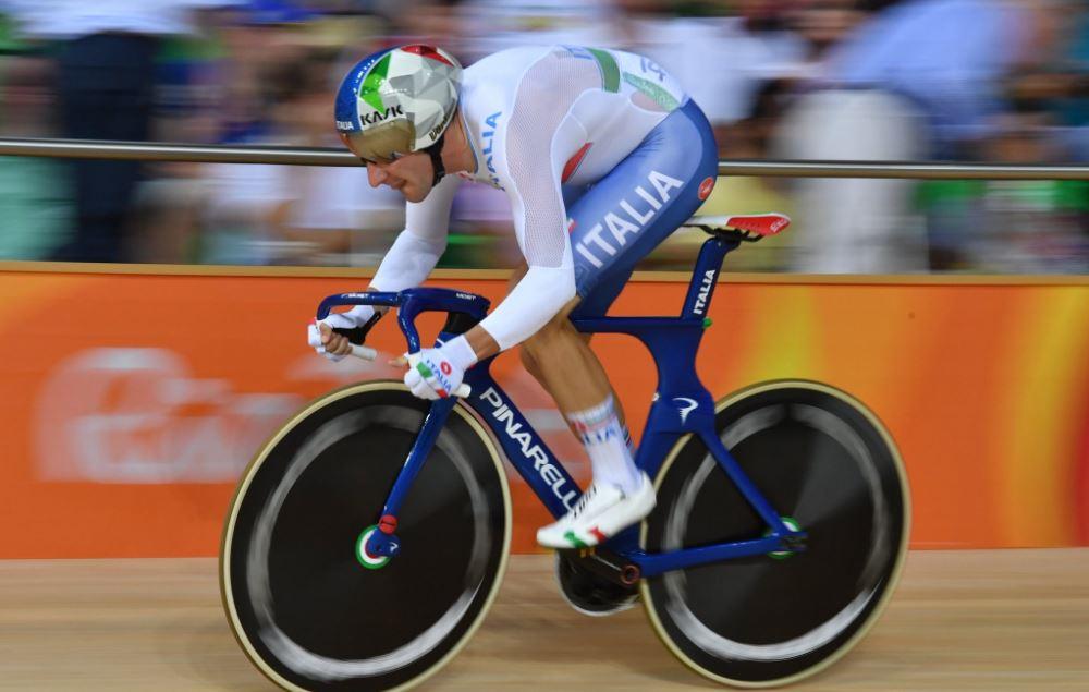 Elia Viviani in azione a Rio 2016