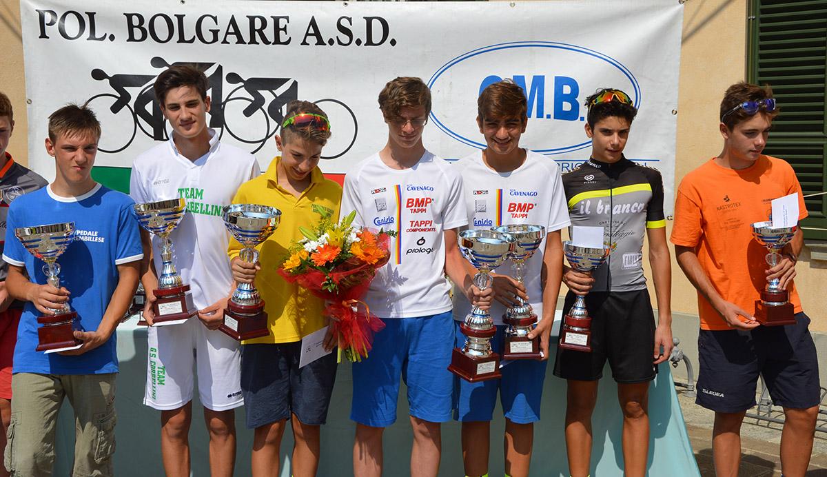 Il podio del Trofeo Bergel