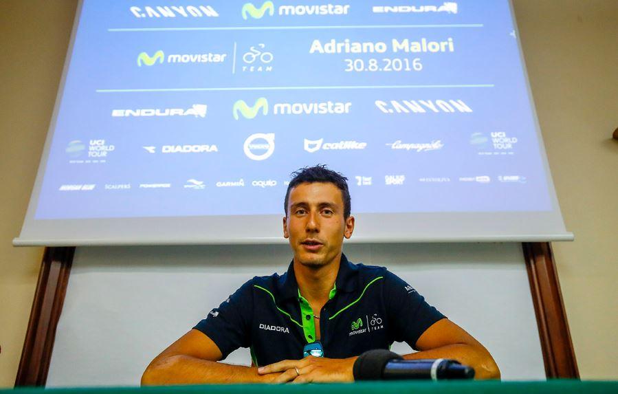 Adriano Malori in conferenza stampa