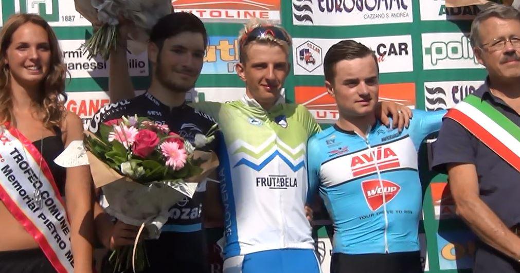 Il podio del 20° Trofeo Comune di Vertova – 15° Memorial Pietro Merelli