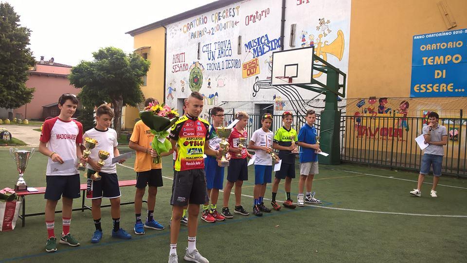 Gabriele Raccagni vincitore della gara Esordienti 1° anno