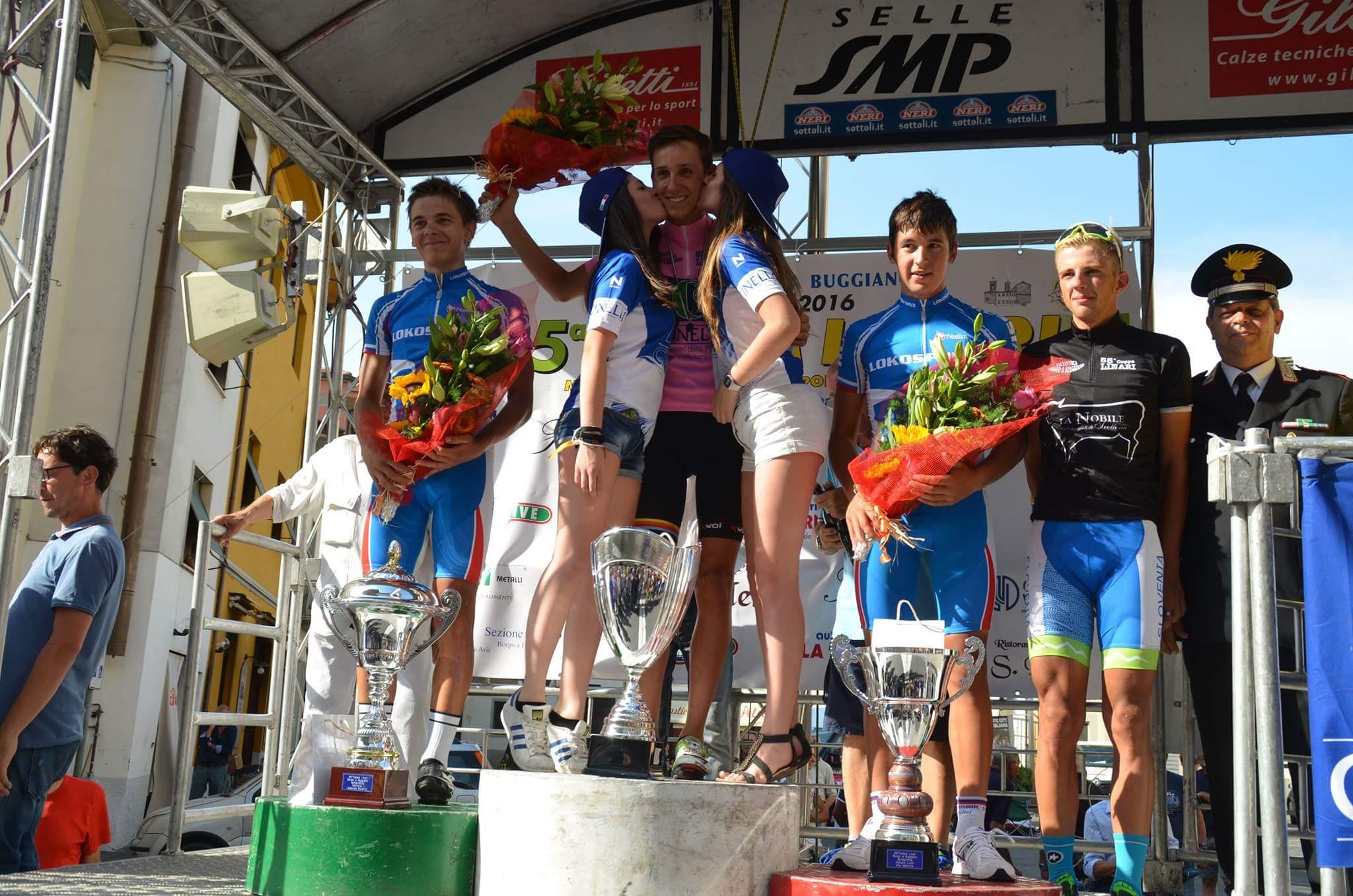 Il podio della Coppa Linari 2016