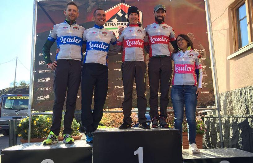 I leader dell'Etna Marathon Tour dopo la prima tappa