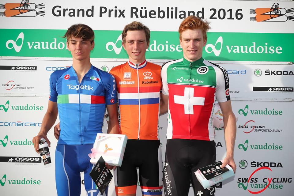 Il podio della prima tappa del Gp Ruebliland 2016