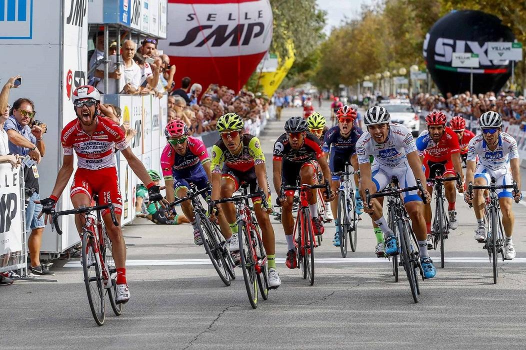 L'arrivo del Memorial Marco Pantani 2016 a Cesenatico