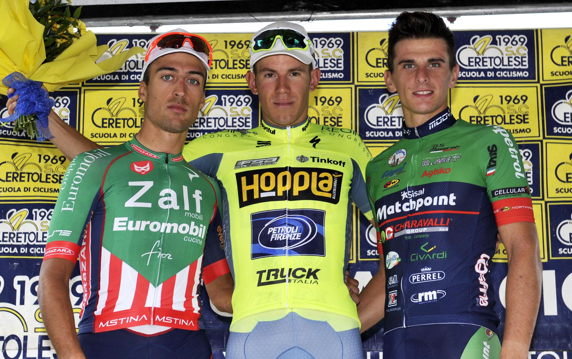 Il podio del Piccolo Giro dell'Emilia 2016