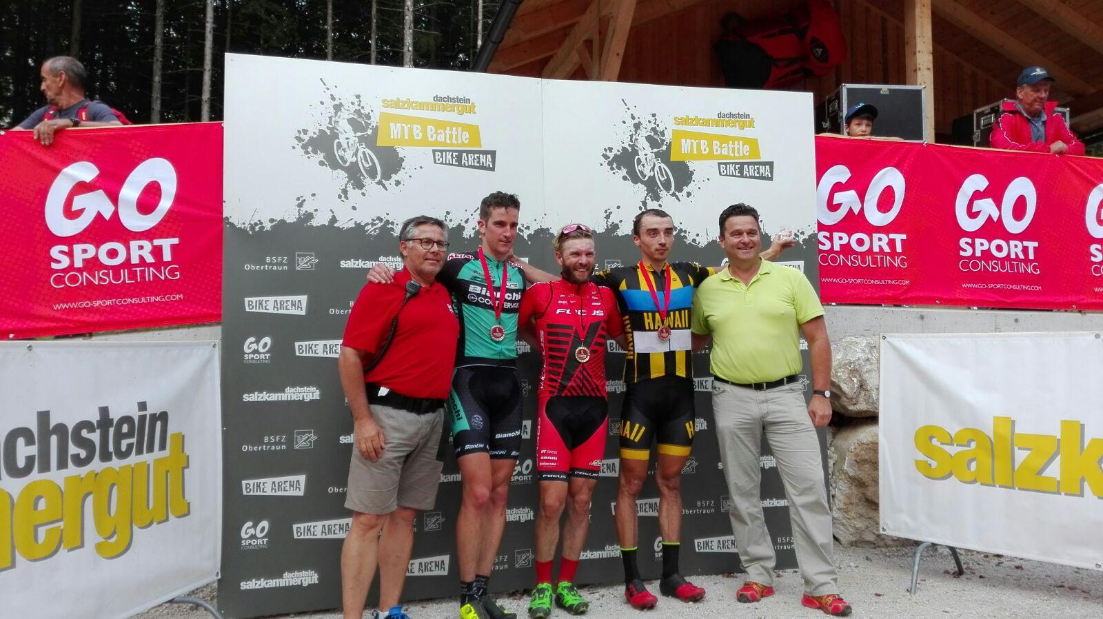 Gerhard Kerschbaumer secondo sul podio di Obertraun in Austria