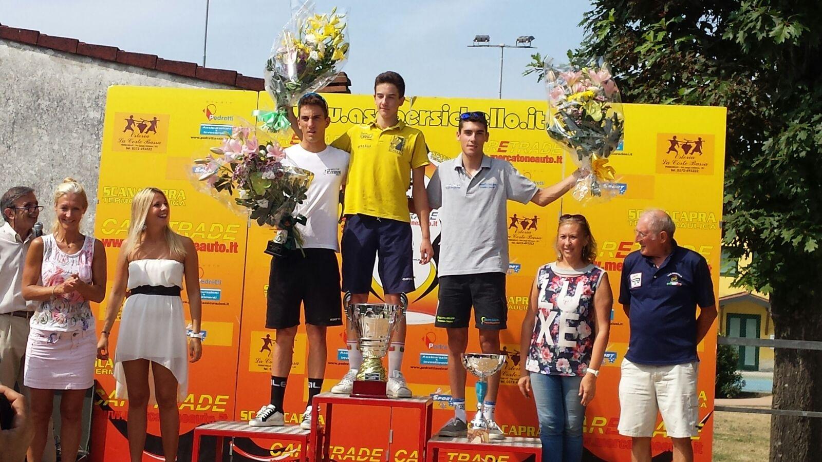 Il podio della gara Allievi di Persichello