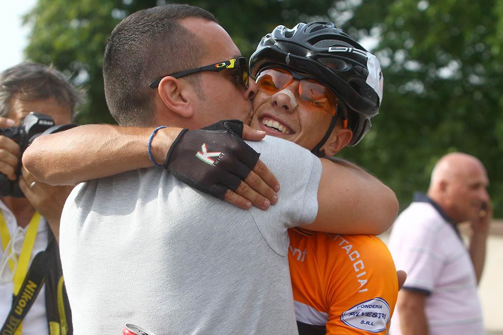 Samuele Battistella festeggia la vittoria Trofeo Buffoni 2016
