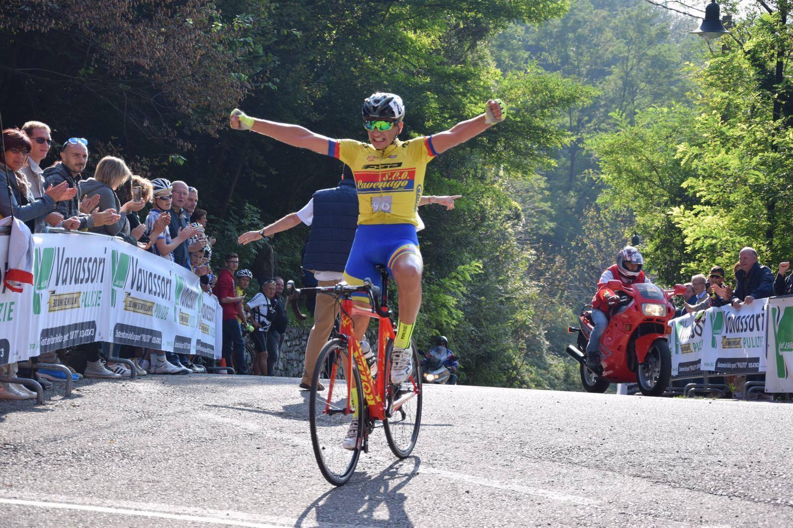 La vittoria solitaria di Andrea Piras a Nembro