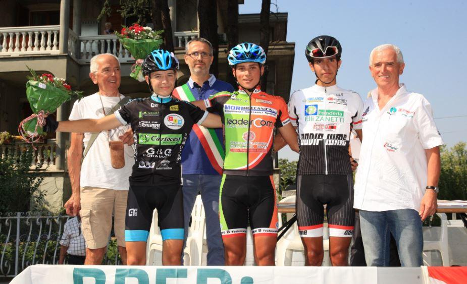 Il podio della gara Allievi di Gragnano Trebbiense