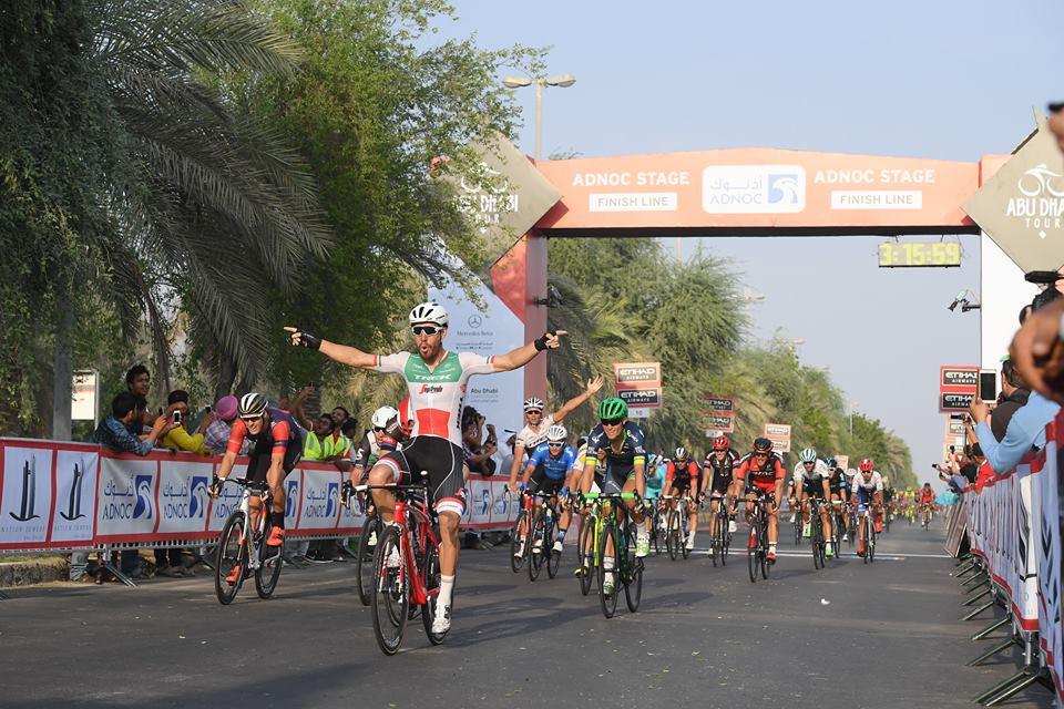 La vittoria di Giacomo Nizzolo nella prima tappa dell'Abu Dhabi Tour