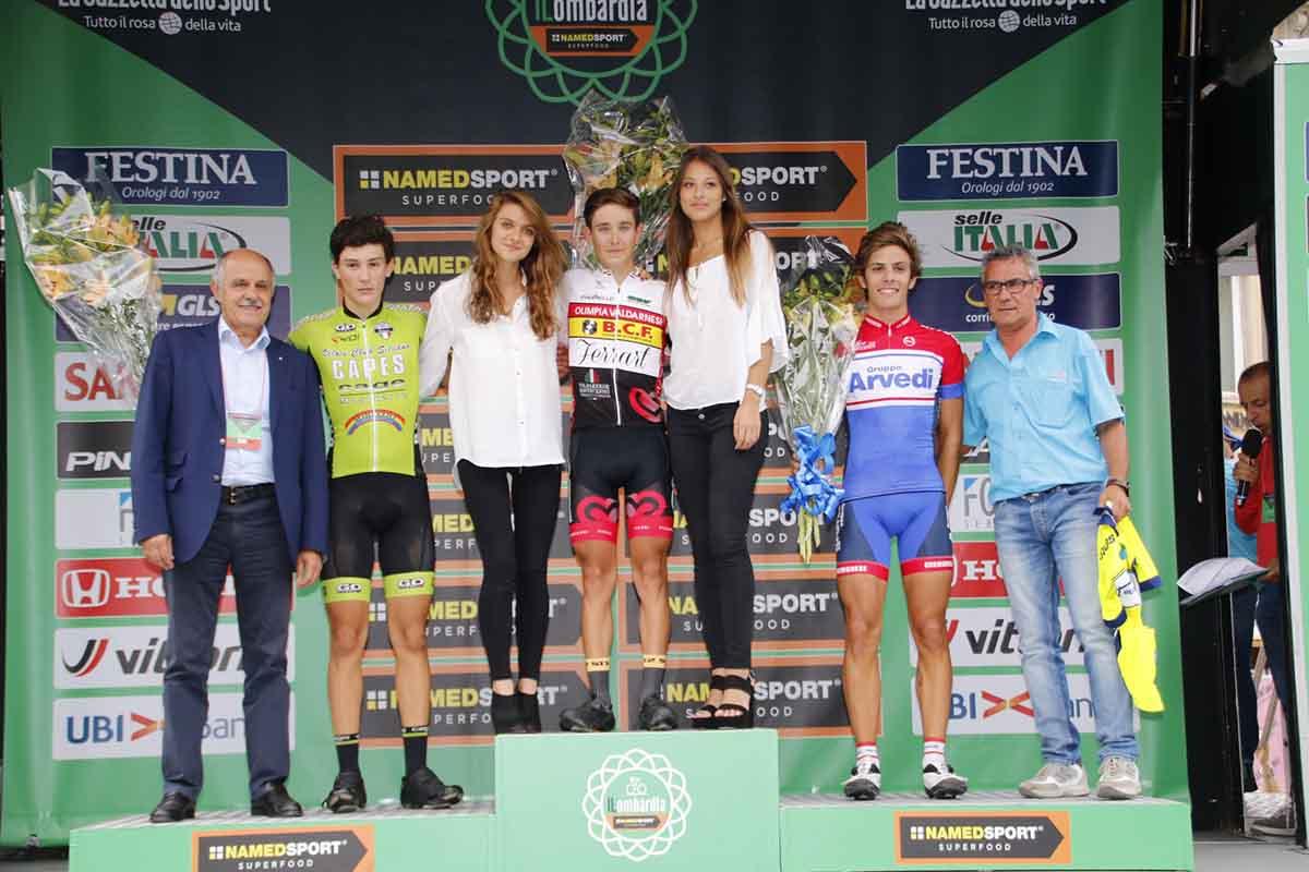 Il podio del Trofeo Città di Bergamo - Gp L'Eco di Bergamo 2016