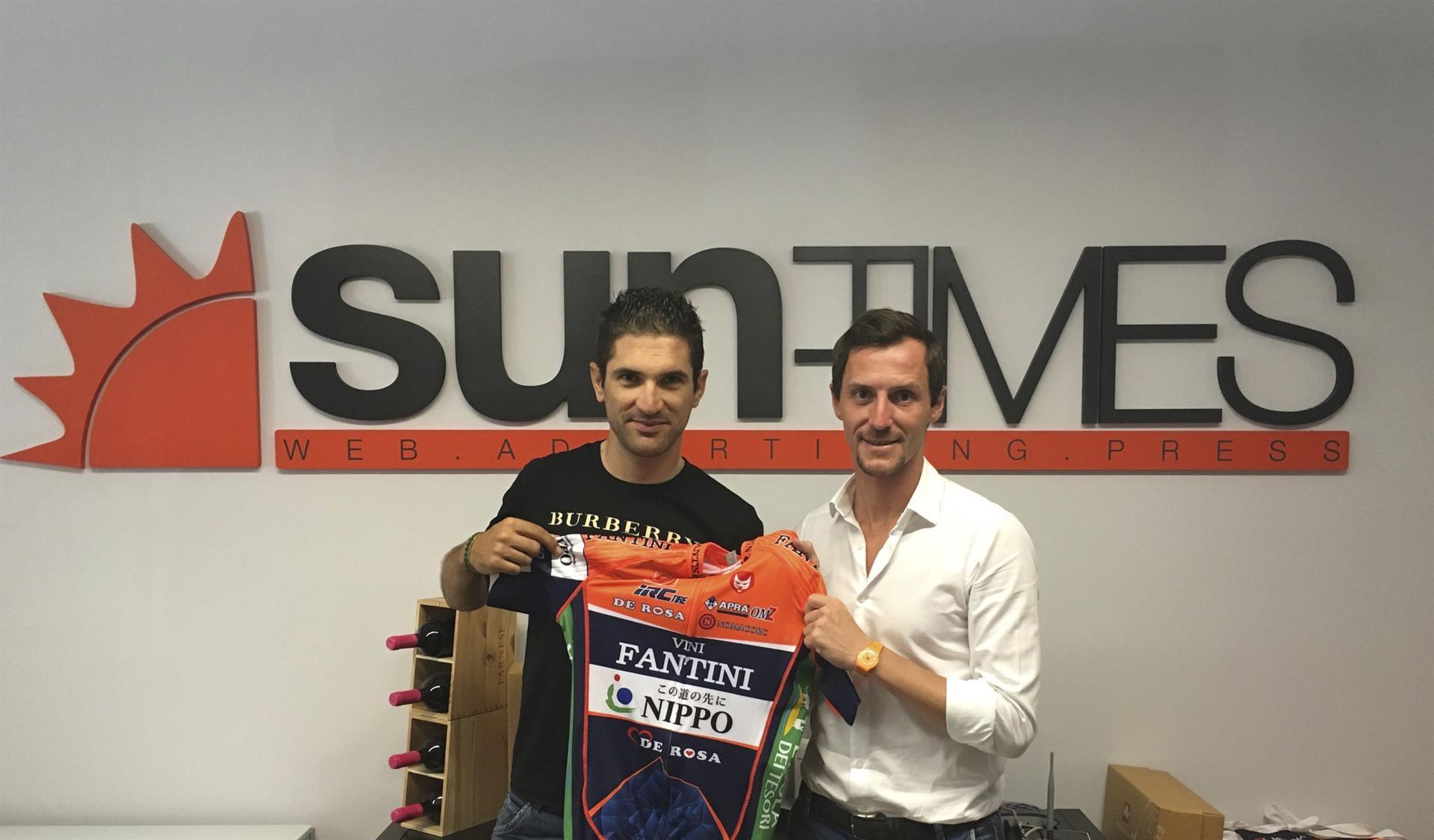 Alan Marangoni con il General Manager Francesco Pelosi