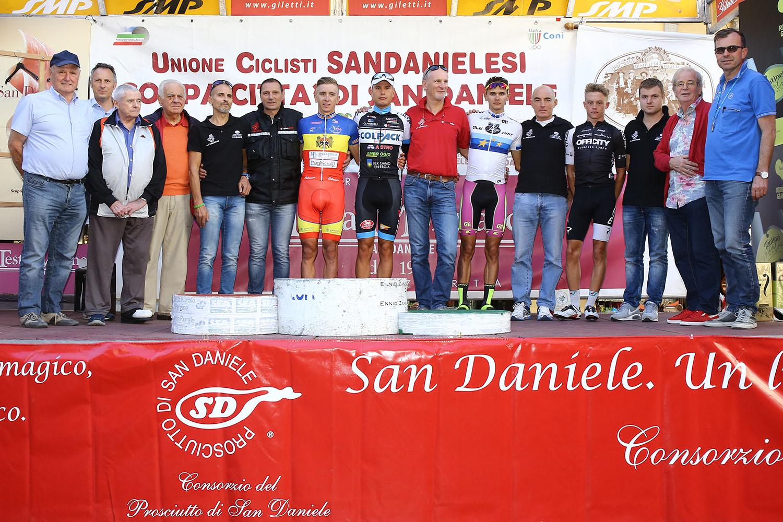 Il podio della Coppa Città di San Daniele 2016