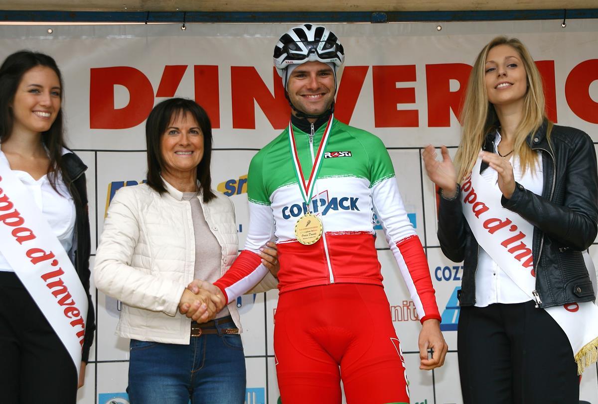 La premiazione del campione italiano Davide