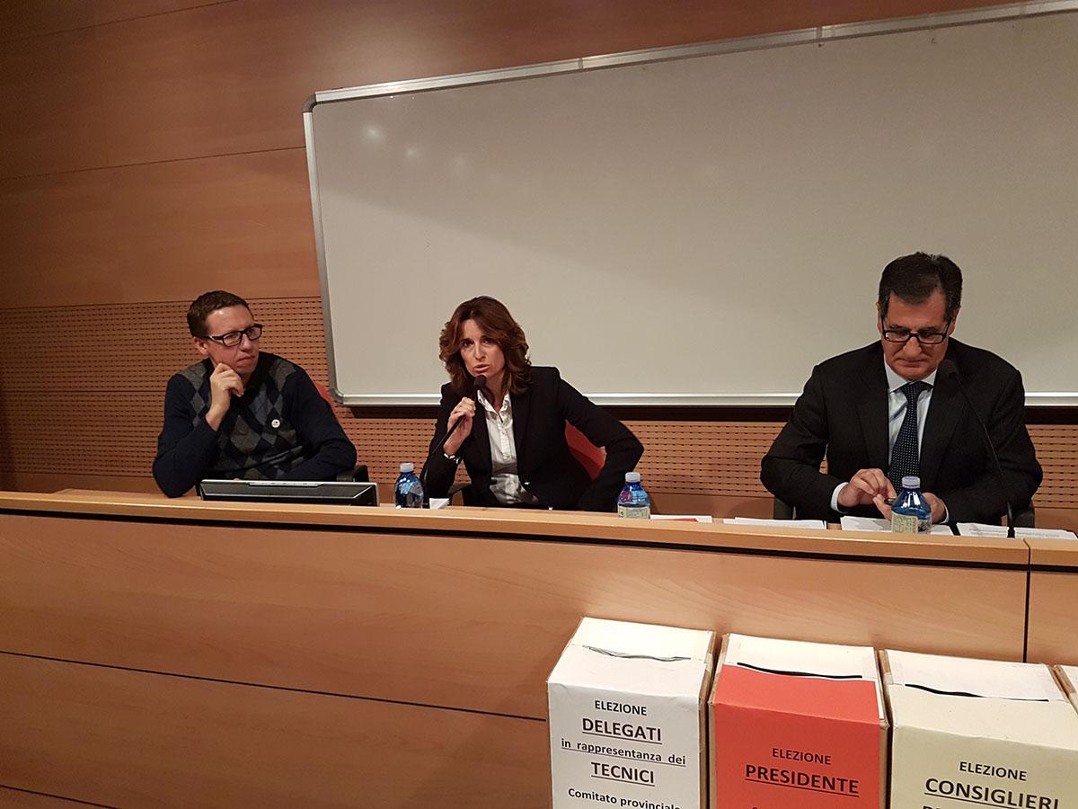 Norma Gimondi presenta la sua candidatura durante l'Assemblea provinciale di Bergamo