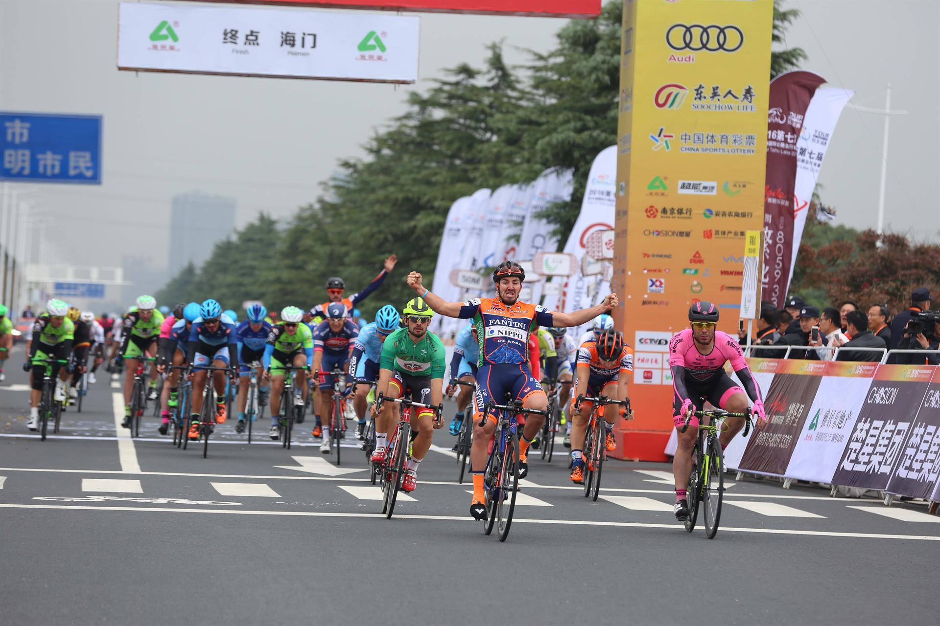 La vittoria di Eduard Grosu nella quinta tappa del Tour of Taihu Lake