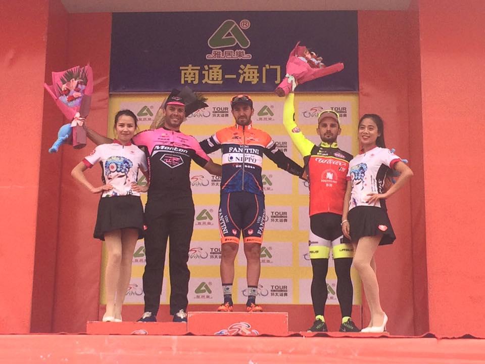 Il podio della quinta tappa del Tour of Taihu Lake