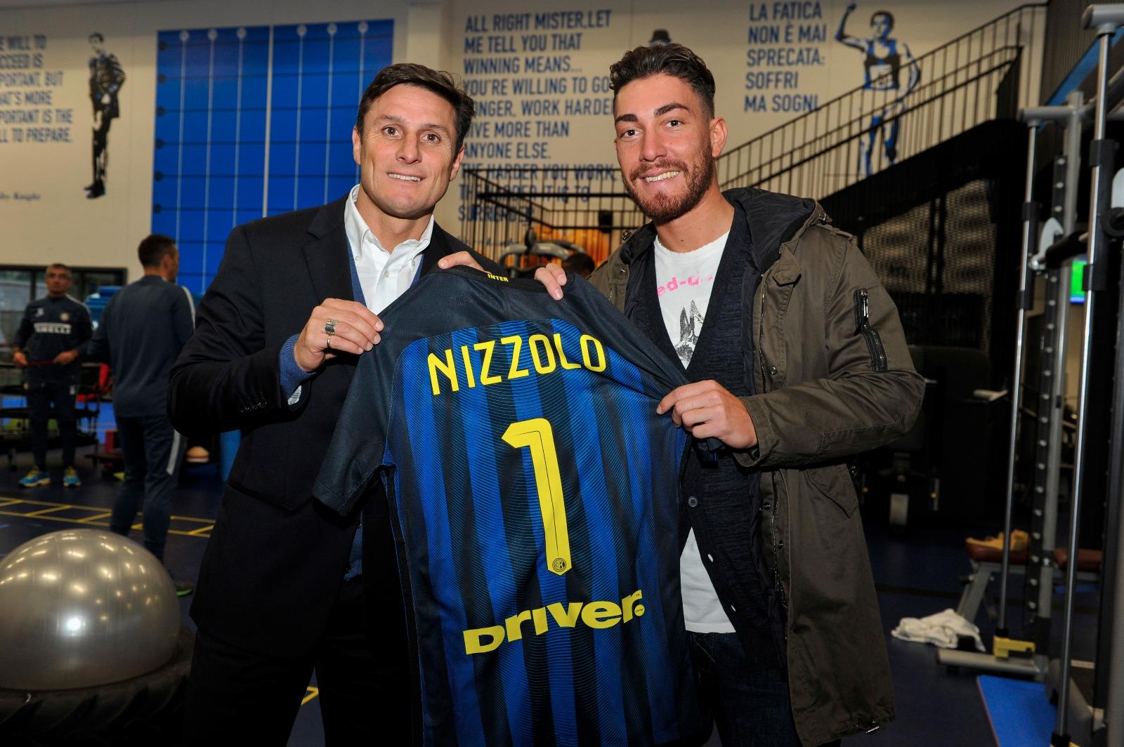 Giacomo Nizzolo con Javier Zanetti
