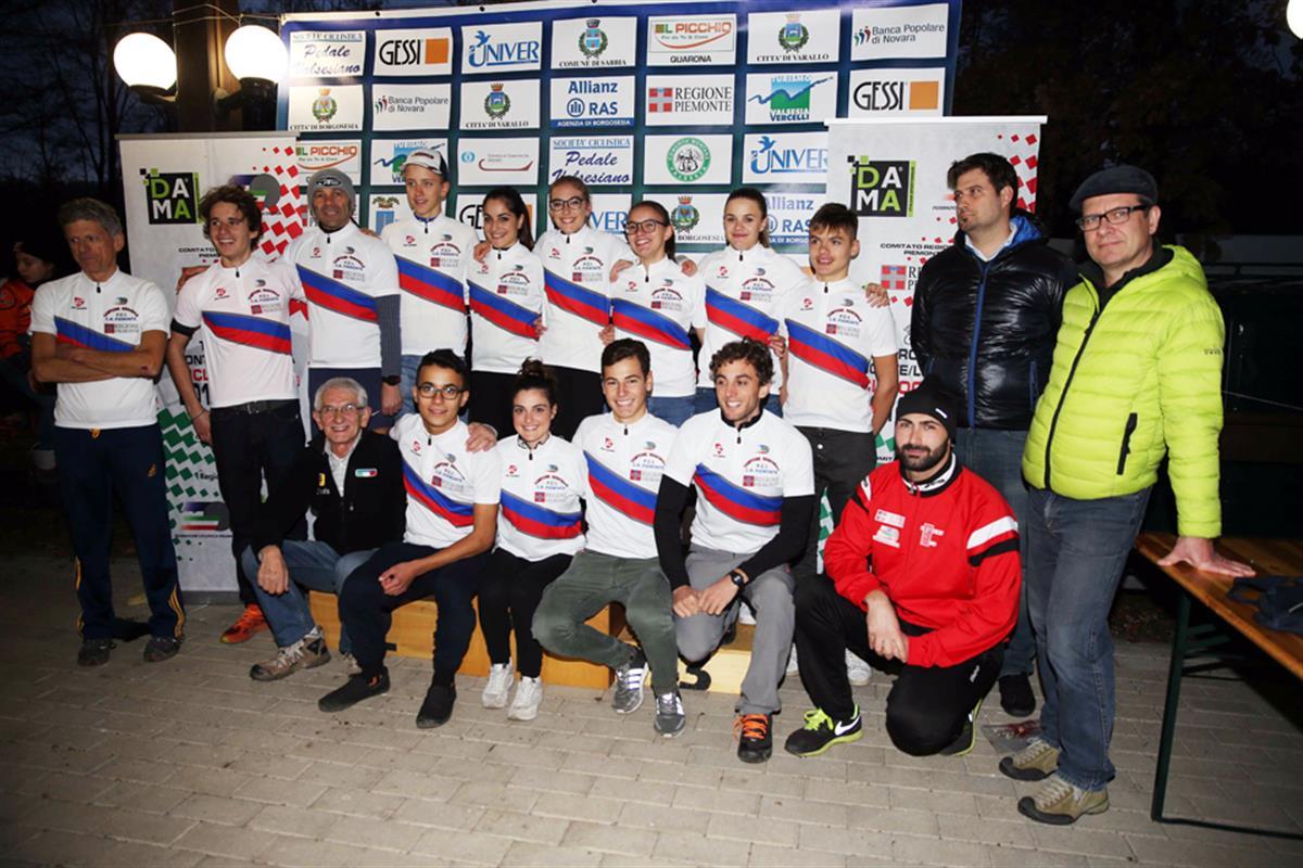 I campioni regionali piemontesi di ciclocross 2016-2017