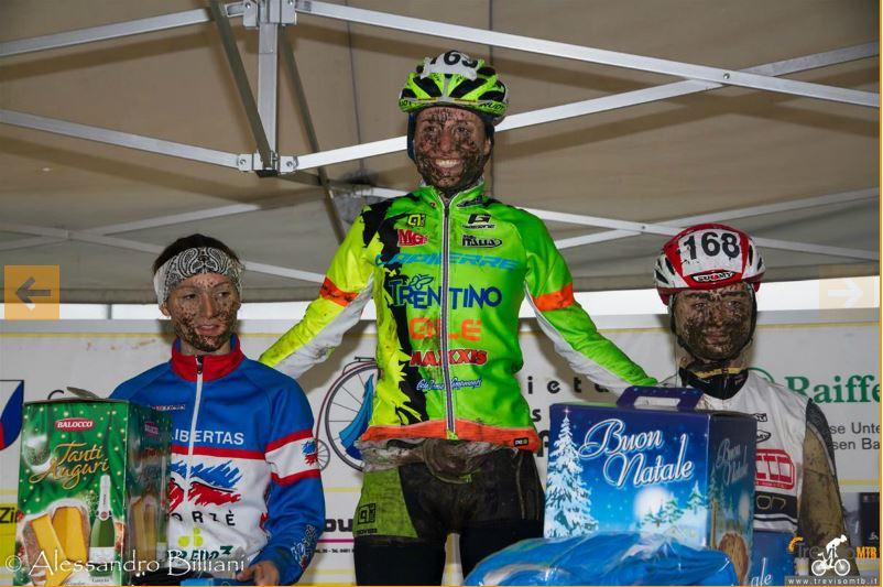 Il podio femminile di Laives