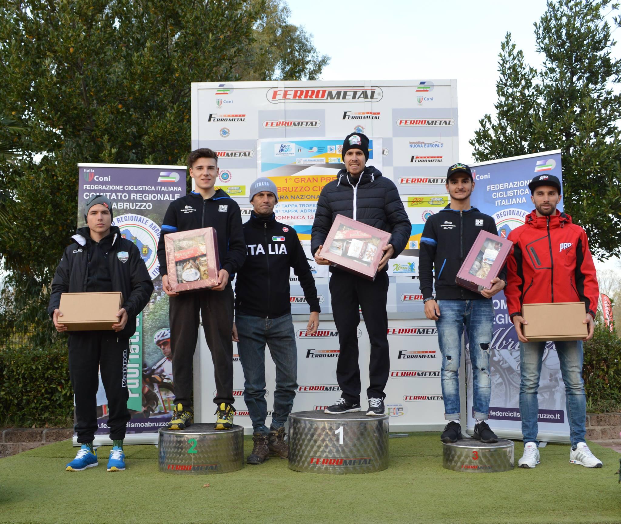 Il podio Open maschile