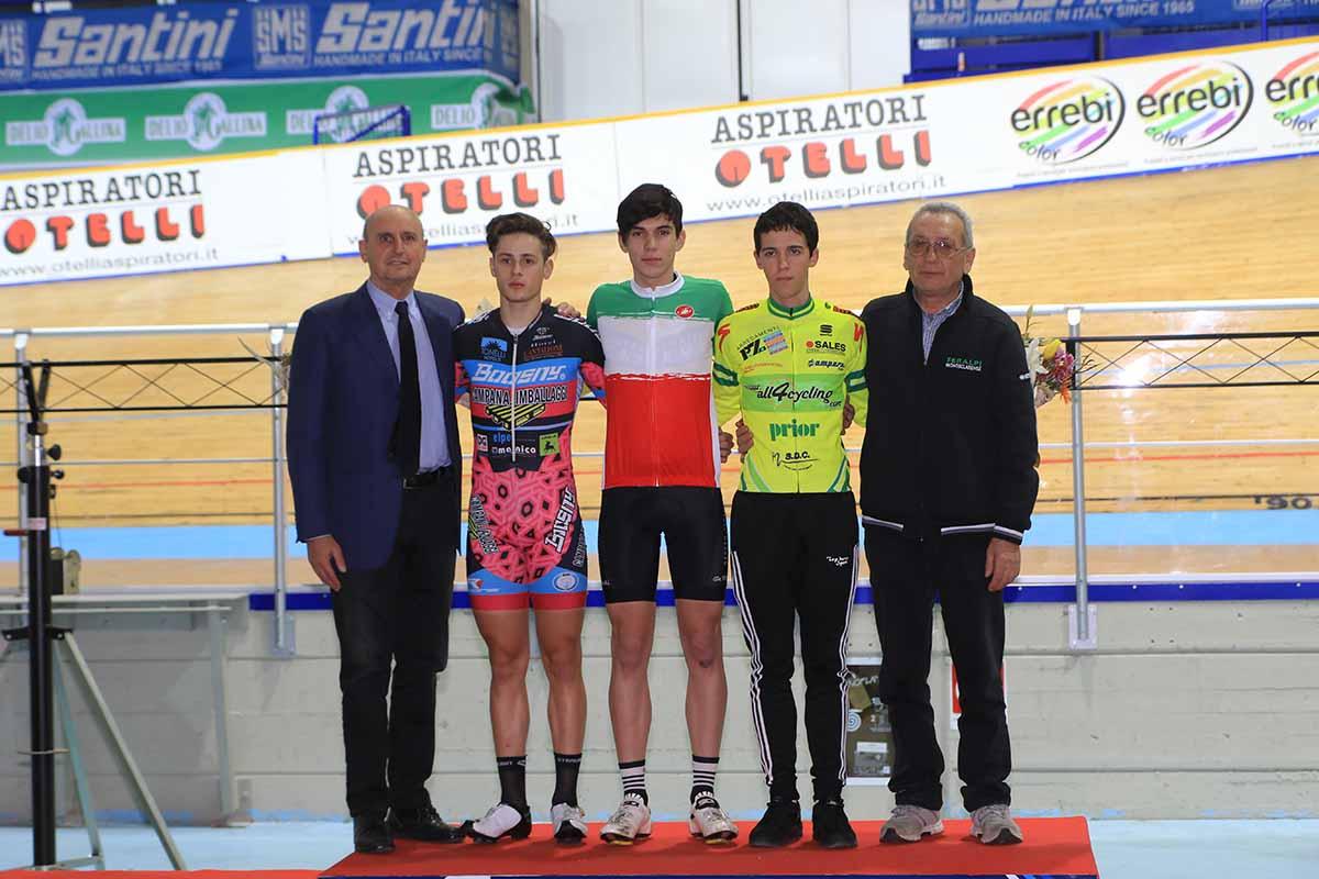 Il podio del Campionato Italiano Km Juniores